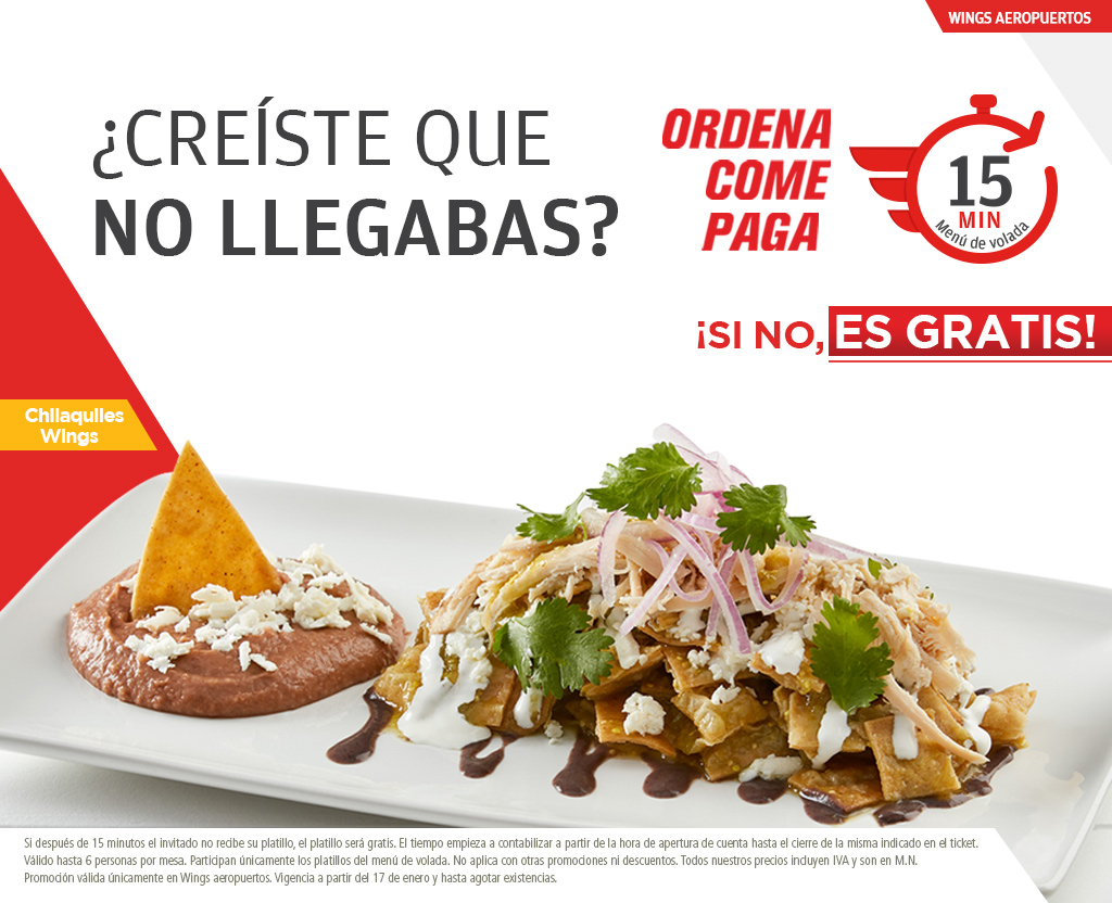 Ordena, come, paga en Wings