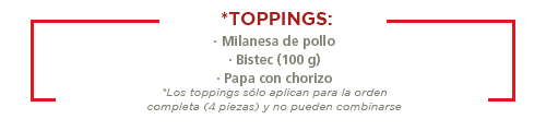 Toppings Molletes Wings